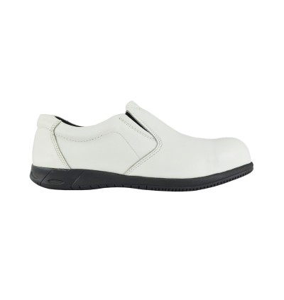 Walk About® Slip-on Executive Safety shoes with Soft Cow Leather (3908 11 SB P HRO White 11)