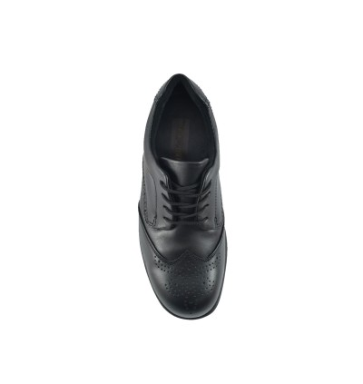 Walk About® Lace-up Executive Safety shoes with Soft Cow Leather (3001 18 SB P HRO Black 18)
