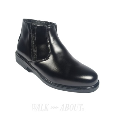 Walk About® Double Zip-up Boots with Smooth Cow Leather (395 Black 06)