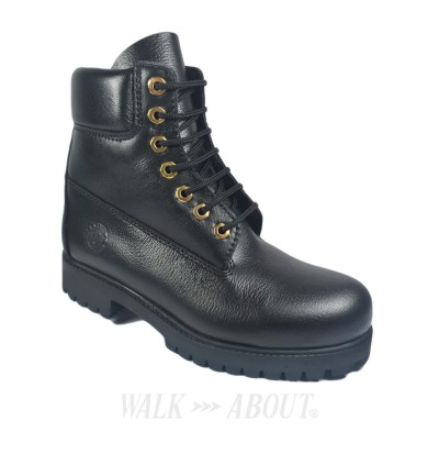 Walk About® Lace-up Boots with Genuine Buffalo Leather (120 Black 039)