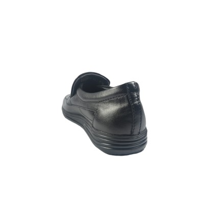 Walk About® Slip-on Shoes with Genuine Soft Cow Leather (206 353 Black 18)