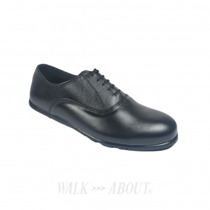 Walk About® Lace-up Flexible Shoes with Genuine Soft Cow Leather (906 3815 Black 18)