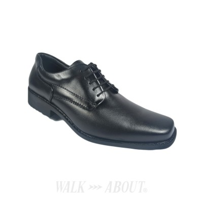 Walk About® Lace-up Shoes with Genuine Soft Cow Leather (921 556 Black 18)