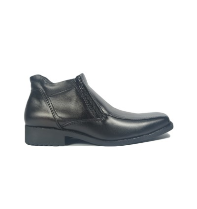 Walk About® Double Zip-up Boots with Genuine Soft Cow Leather (921 559 Black 18)
