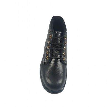 Walk About® Lace-up Safety ankle boots with Buffalo leather (6907 Black 039 SB P HRO)