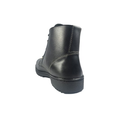 Walk About® Lace-up Safety ankle boots with Zip and Buffalo leather (6917 Black 039 SB P HRO)