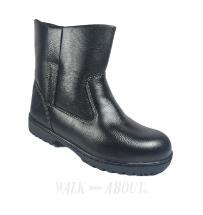 Walk About® Pull-up Safety ankle boots with Buffalo leather (6935 Black 039 SB P HRO)