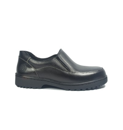 Walk About® Slip-on Safety shoes with Buffalo leather (6936 Black 039 SB P HRO)