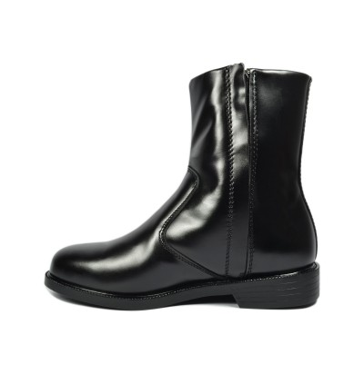 Walk About® Single Zip-up Boots with Smooth Cow Leather (380 Black 06)