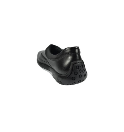 Walk About® Ladies Slip-on Shoes with Genuine Soft Cow Leather (1900 Black 18)