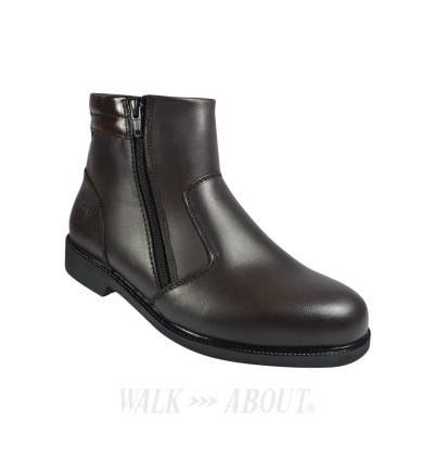 Walk About® Double Zip-up Boots with Waxed Buffalo Leather (3821 Brown 031)