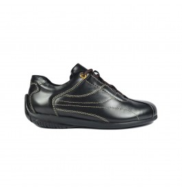 Walk About® Men Lace-up Driving Shoes with Genuine Soft Cow Leather (1920 Black 141)