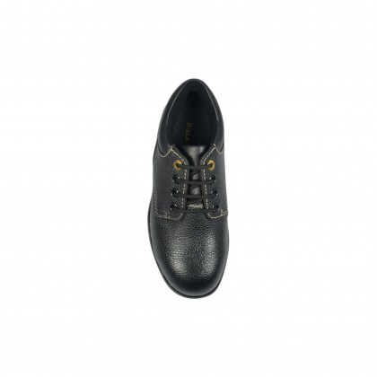 Walk About® Ladies Lace-up Safety shoes with Buffalo Leather (7911 Black 03 SB HRO)